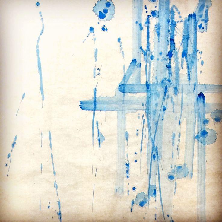 Asagiiro. Japanese color  浅葱色  和色の青