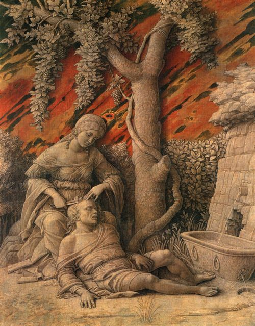 Andrea Mantegna - Samson and Delilah, c. 1500