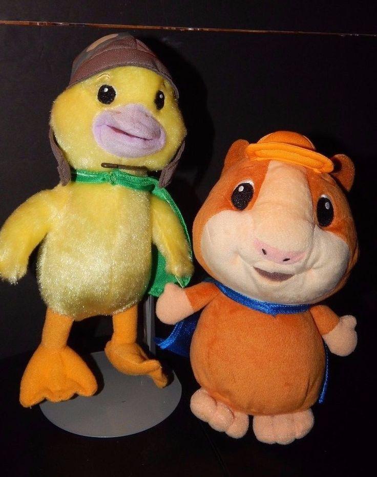 Wonder Pets Linny the Hamster & Ming Ming Duck Plush Lot Nick Jr Fisher Price  #Mattel