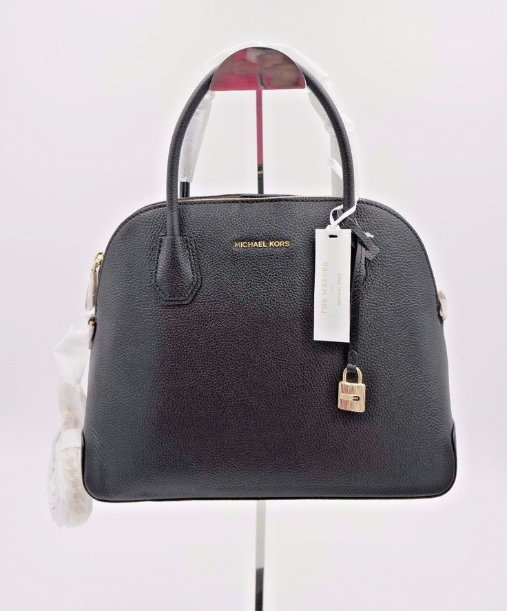 Item specifics    									 			Condition:  												 																	 															  															 															 																New with tags: A brand-new, unused, and unworn item (including handmade items) in the original packaging (such as  																  																		... - https://lastreviews.net/fashion/womens/handbags/nwt-michael-michael-kors-studio-mercer-dome-black-leather-satchel-bag-purse-new/
