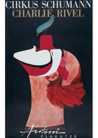 print by Permild & Rosengreen, artist Ib Antoni, poster from Cirkus Shumann 1967