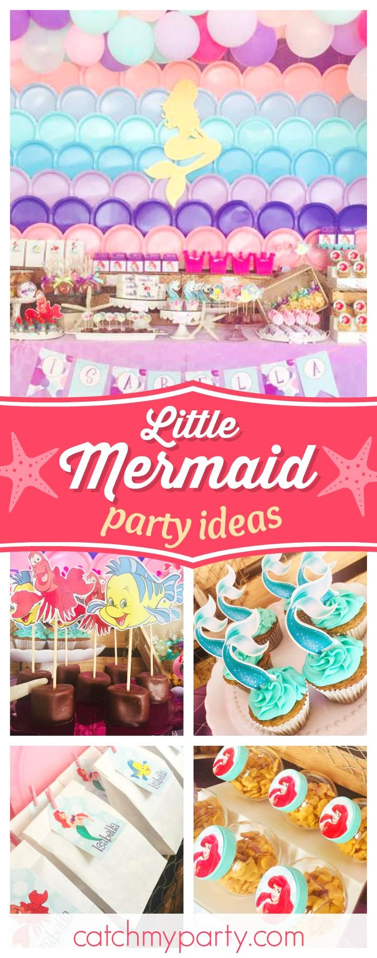 wording0th birthday party invitation%0A Little Mermaid   Birthday   Little Isabella Mermaid birthday party
