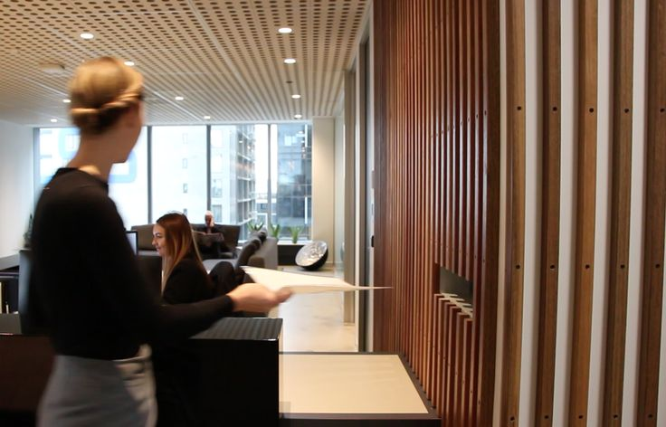 We're proud suppliers of a variety of new certified architectural timbers for flooring, cladding and screening battens. We supplied and installed these spotted gum battens for an office reception desk – complete with a mail slot to keep the paperwork in check on the other side. . . #timberrevival #commercialfitoutmelbourne #officedesignmelbourne #officefitout #timberindesign #timberbattens #timberscreening #spottedgum #spottedgumbattens #receptiondeskdesign #wemakeoldtimbernew