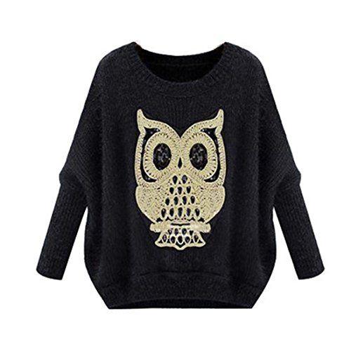 Fruehling Winter neue koreanische Frauen fledermausaermel Mohairpullover Eule Langarm-Pullover Outwear(One Size,Black) Jetor http://www.amazon.de/dp/B00OW2EKBW/ref=cm_sw_r_pi_dp_lLS0ub1RBH87Q