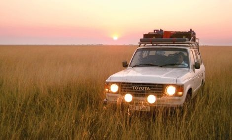 Toyota Land Cruiser for exploration