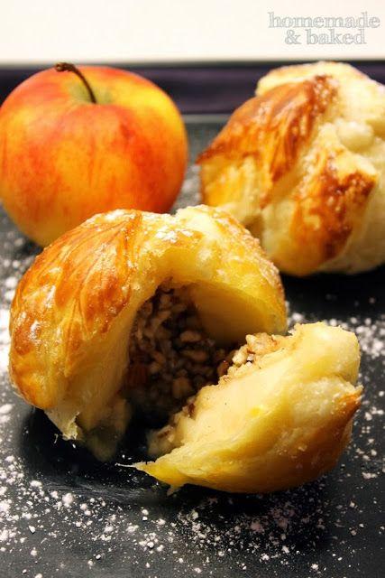 Bratapfel im Blätterteig