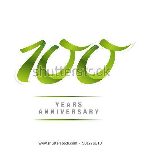 100 Years Green Anniversary  Logo Celebration
