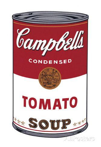 オールポスターズの アンディ・ウォーホル「キャンベルスープ I、トマト缶 1968年 (Campbell's Soup I)」アート