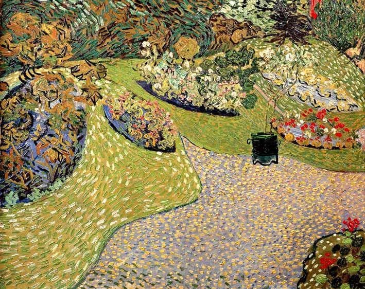 Vincent Van Gogh - Post Impressionism - Auvers - Jardin à Auvers - 1890