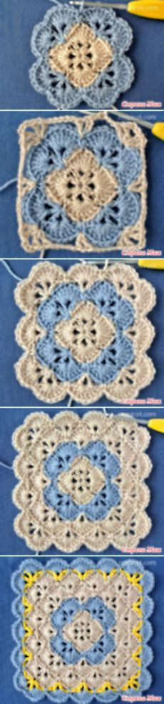 Crocheting pattern.  Square.  - Knitting - Home Moms