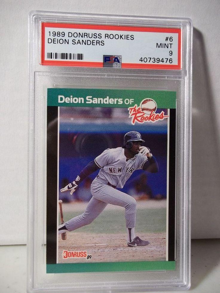 1989 donruss rookies deion sanders psa mint 9 baseball