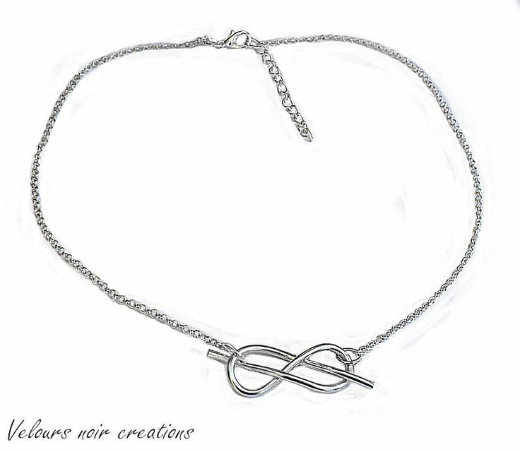 of savoy knot necklace created by hand with wire technique