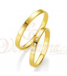 Βέρες γάμου χρυσές με διαμάντι breuning 4313-4314