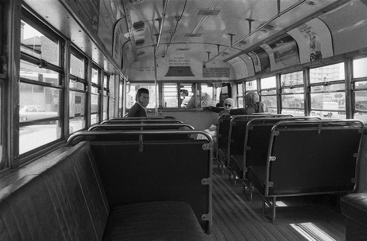 A bus on Hoddle Street Collingwood 1976.