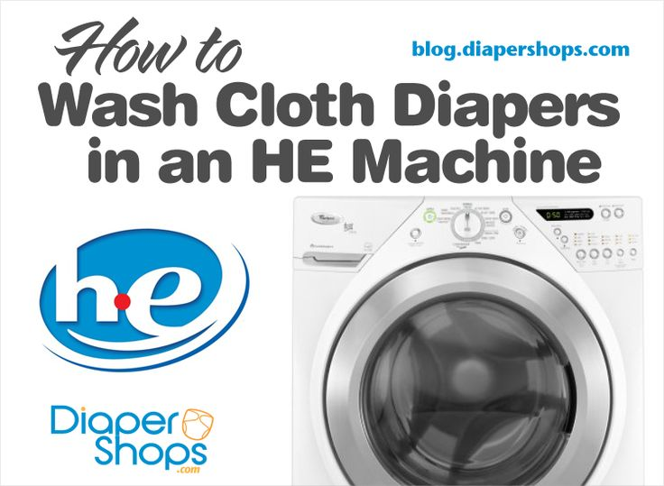 How to Wash Cloth Diapers in an HE Machine | Diapershops Blog