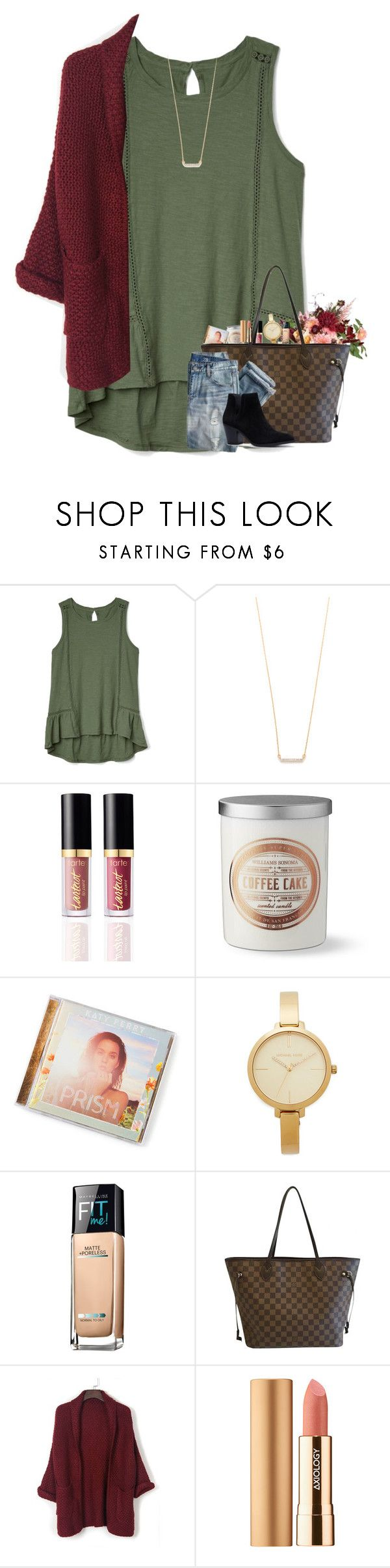 """""""Don't expect the best"""" by preppyandperfect ❤ liked on Polyvore featuring Gap, Adina Reyter, Williams-Sonoma, Michael Kors, Maybelline, Louis Vuitton, J.Crew, WithChic and Axiology"""