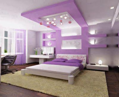 Japanese Purple Bedroom... So cool to sleep on this room
