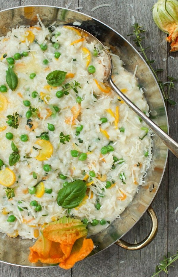 Early Summer Risotto with New Garden Vegetable & Herbs : Simple Bites #recipe