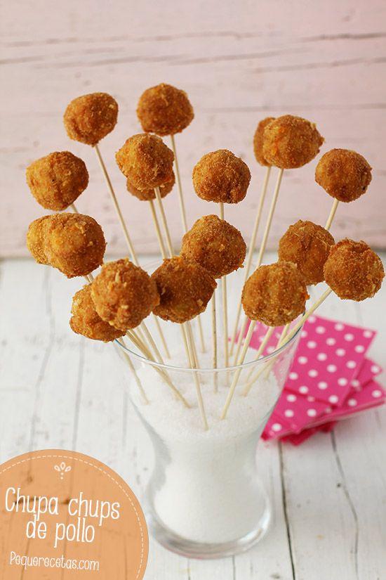 Estos chupa chups de pollo son una delicia, y sin duda a los niños les van a encantar. Los chupa chups de pollo también son una excelente alternativa como aperitivo.