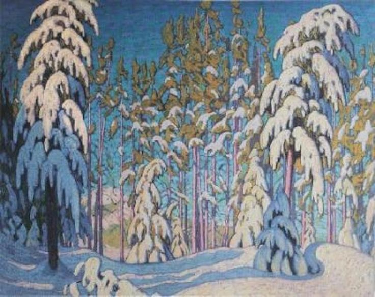 Lawren Harris Winter In The Northern Woods
