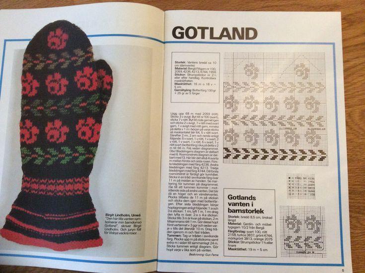 Gotland, swedish mitten, vott, knitting