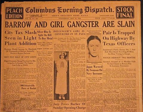 bonnie and clyde reaction paper laetiti On may 23, 1934, the bank robbers bonnie parker and clyde barrow were shot to death in a police ambush as they were driving a stolen ford deluxe along a road in bienville parish, la.