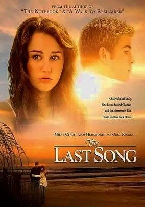 The Last Song (2010) Miley Cyrus has top billing as 17-year-old Ronnie Miller, a rebellious former piano prodigy who doesn't hide her hostility after being sent off to spend the summer in Georgia with her estranged father (Greg Kinnear). Rebuffing her dad's attempts to reconnect, the aloof Ronnie begins to thaw when she meets beach volleyballer Will Blakelee (Liam Hemsworth). Kelly Preston also stars in this contemporary tearjerker based on the Nicholas Sparks novel.