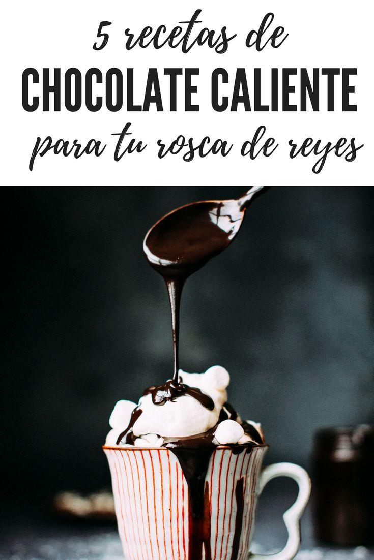 Recetas fáciles y rápidas para hacer chocolate caliente y acompañarlo con tu rosca de reyes. Menta, chocolate blanco, nutella y mucho más.