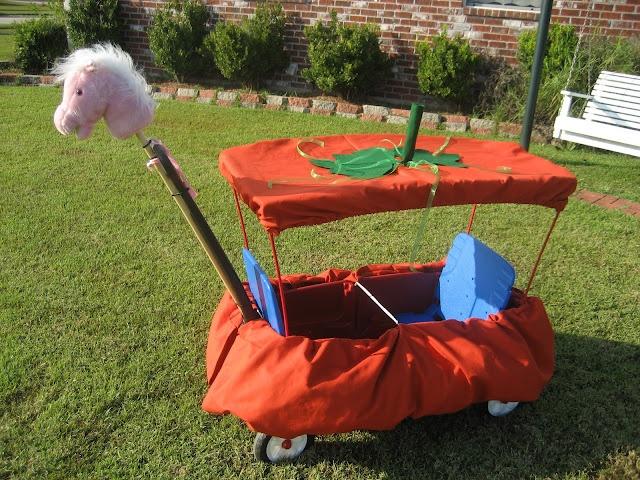 pumpkin carriage wagon!  if we do cinderella/princesses for halloween