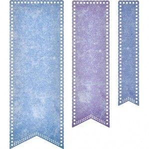 Wykrojnik - Cheery Lynn - Pierced Banner Stacker DL303 chorągiewki