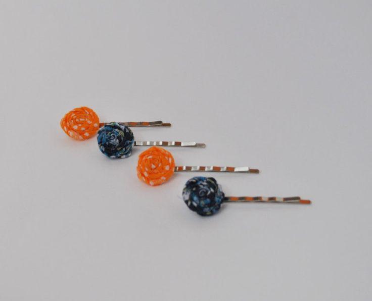 Bobby pin,hair pin, halloween hair clip,hair clip, halloween gift, bobby pins set, orange bobby pins, blue bobby pins, bobby pins for girls by SpringFlowerBoutique on Etsy