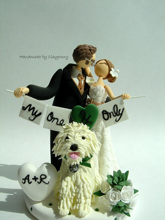etsy wedding cake topper dog 9 best images about cake toppers on 14051