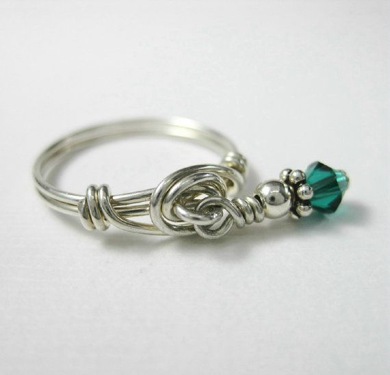 Sterling Silver Personalized Birthstone Ring