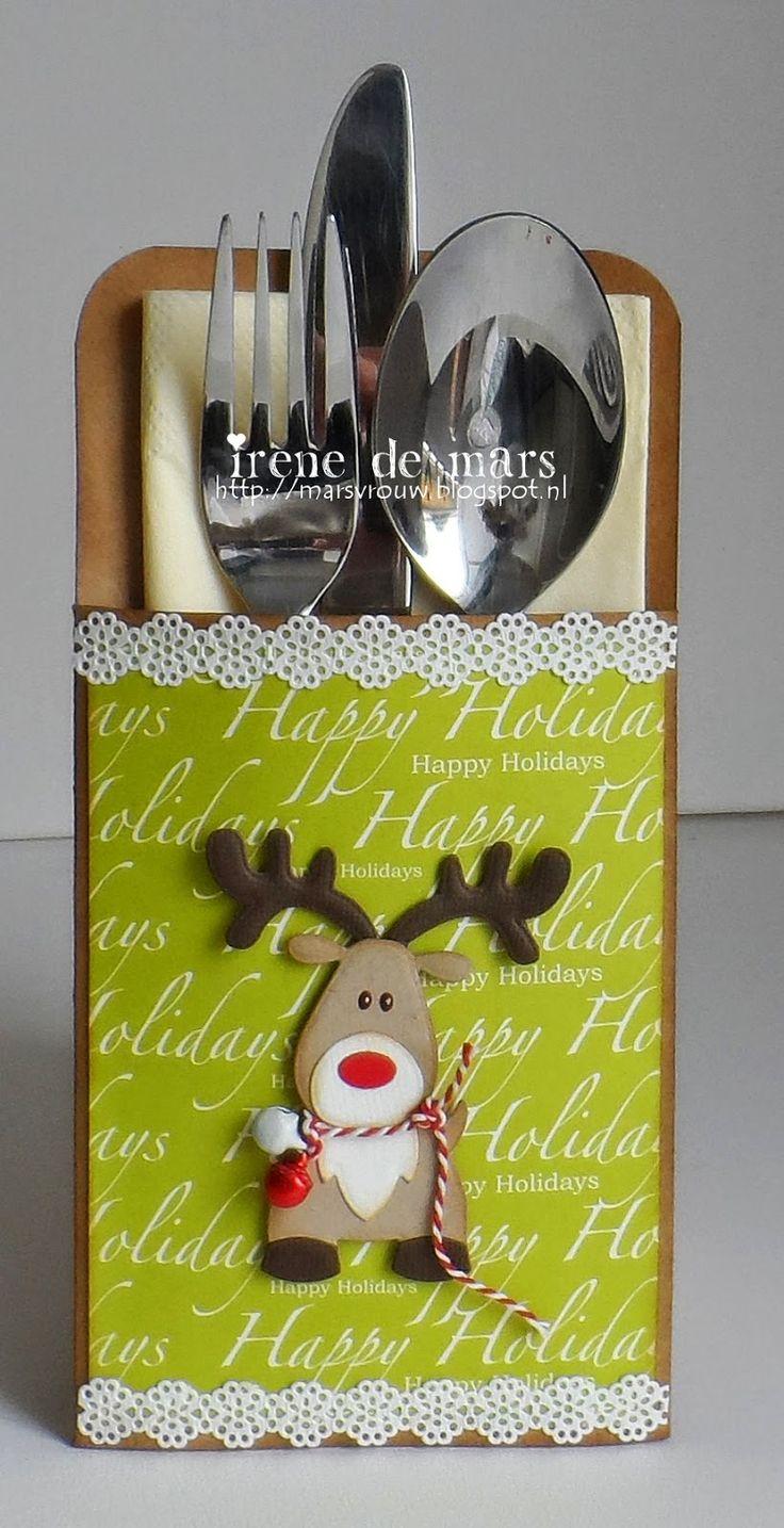 Irene's Scrapbook: Rudolph silverware holder