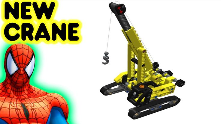 Toy Lego New Crane With Spiderman Superhero Construction Video For Kids And Children