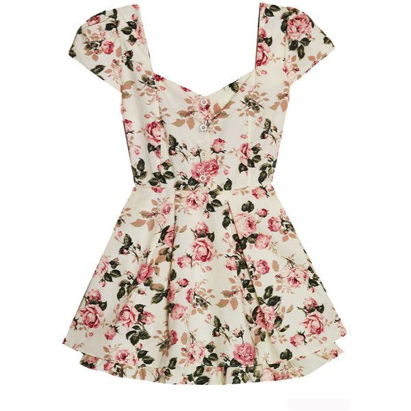 Bonne Chance Collections Secret Garden Bow Back Dress ($47) ❤ liked on Polyvore featuring dresses, tops, shirts, vestidos and bow-back dress