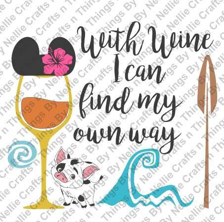 Moana Wine SVG by CraftsnThingsByNelly on Etsy
