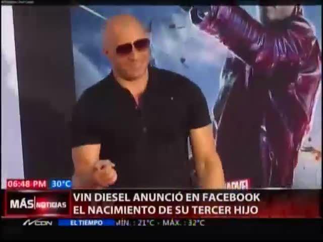 Vin Diesel Anuncia El Nacimiento De Su Tercer Hijo #Video