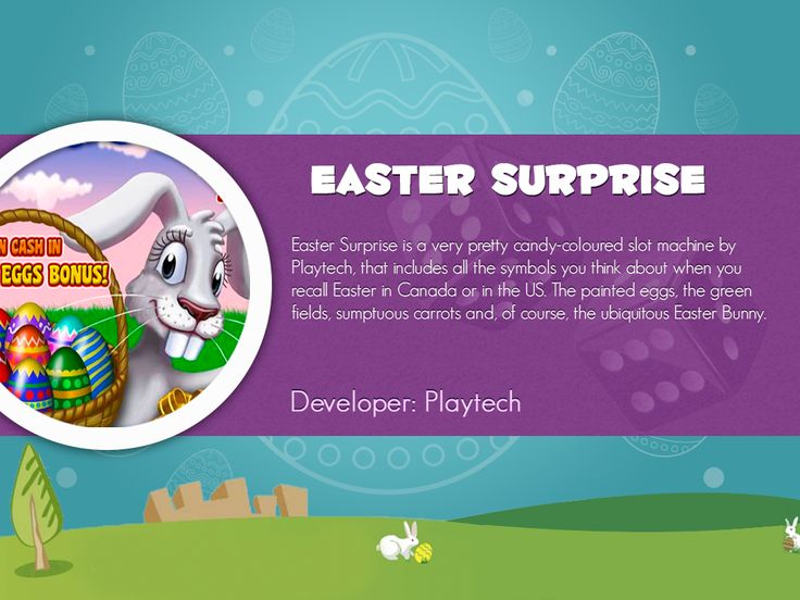 7 best easter slots by slotozilla images on pinterest free slots easter surprise is a very pretty candy coloured slot machine by playtech that includes thecheapjerseys Choice Image