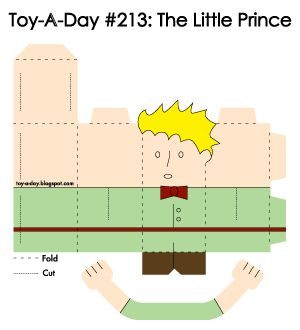 toy a day - print out and fold....flintstones to starwars characters....too cool!