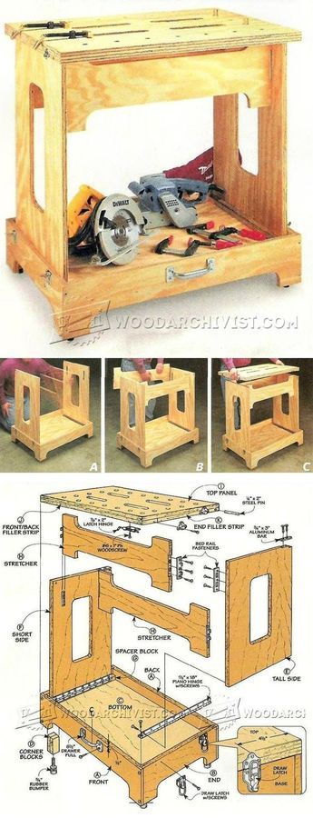 Knock Down Workbench Plans - Workshop Solutions Projects, Tips and Tricks | WoodArchivist.com