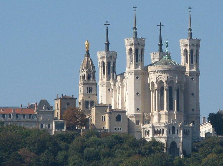 Basilique de Fourvière from Saone (Lyon) - Basilica of Notre-Dame de Fourvière - Wikipedia, the free encyclopedia