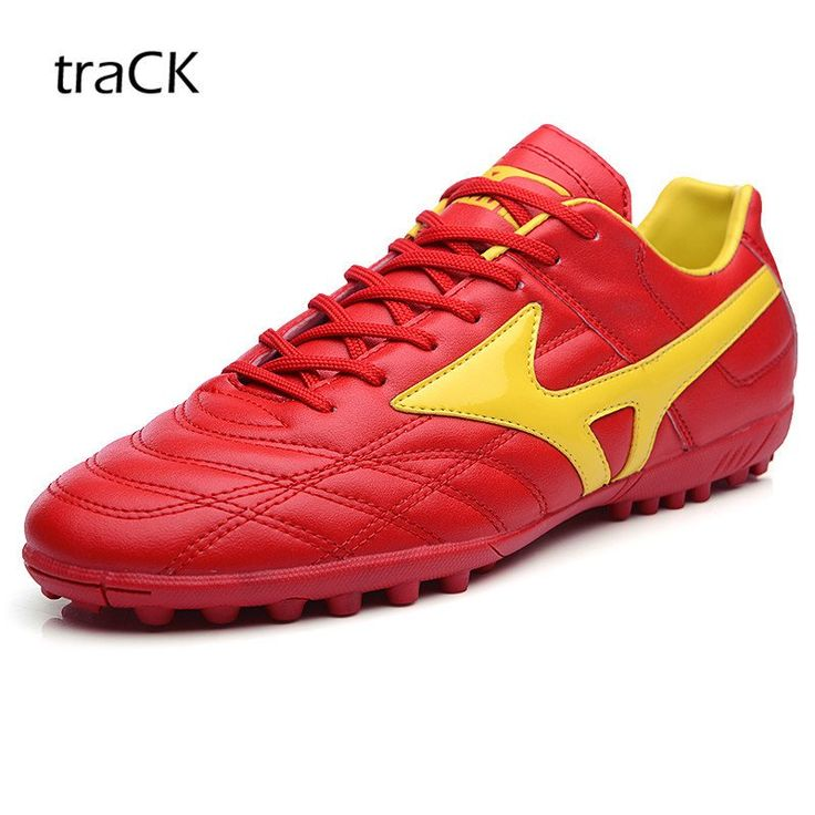traCK Soccer Cleats (Red and Yellow)