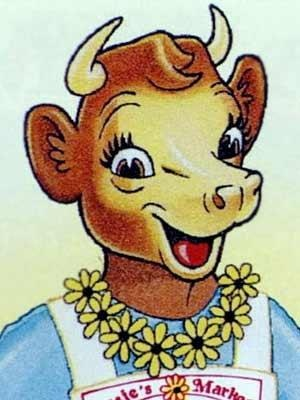 Elsie the Cow, seen in ads for Borden's Dairy products
