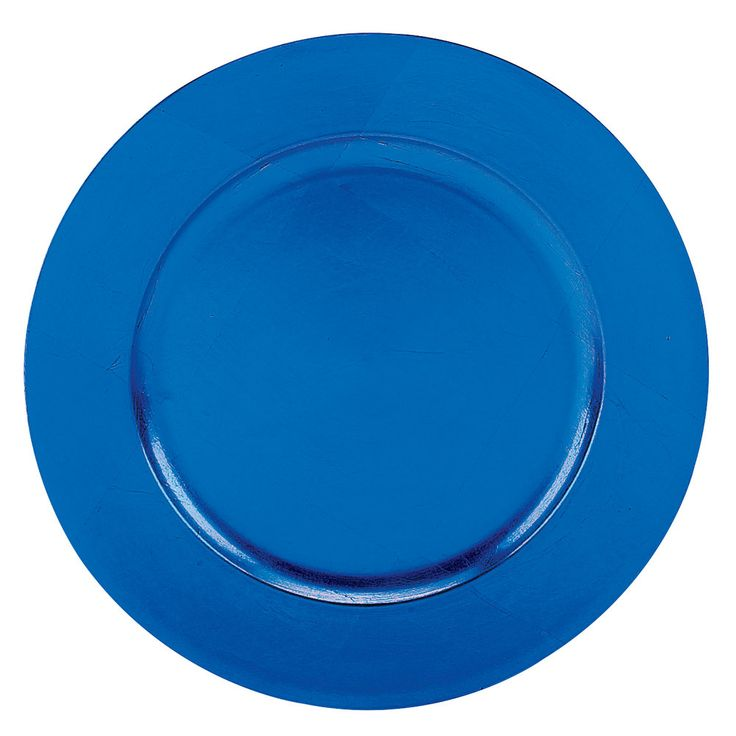 """Add a stylish accent to any upscale table setting with these Tabletop Classics TRBL-6651 blue 13"""" round polypropylene charger plate. This charger plate is great for adding a subtle touch to traditional table settings, serving well at elegant parties, banquets, and other celebratory occasions. Easily place this charger plate under dinner plates, platters, and bowls for a professional, finished look. Its ample 13"""" diameter provides plenty of room for serving soups, salads, and entrees..."""