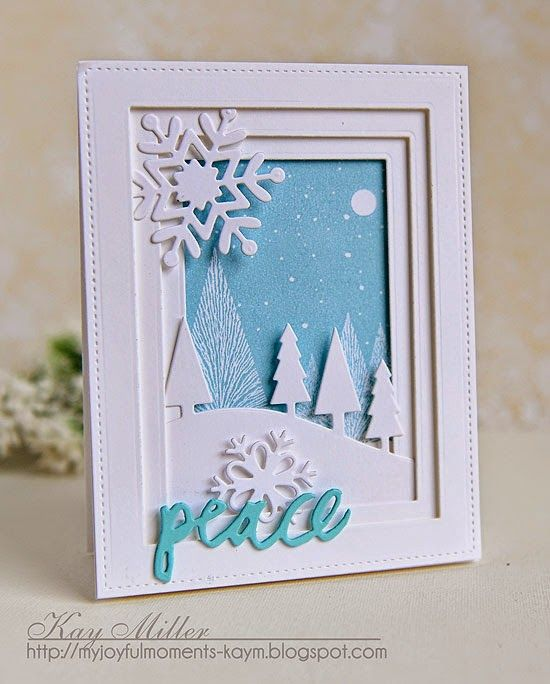 My Joyful Moments: Winter Shadow Box Card