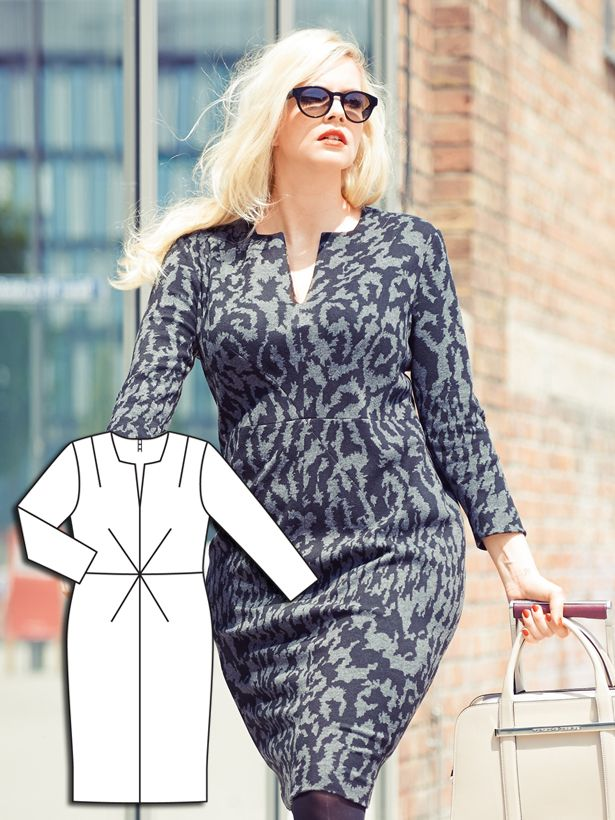 Intriguing X-darts...never saw that before.  Power Dressing: 7 New Plus Size Patterns – Sewing Blog | BurdaStyle.com