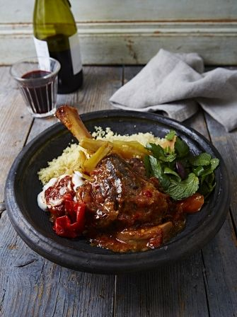 This fantastic Lamb Shank Tagine recipe from Jamie Oliver, is based on a classic Moroccan dish traditionally cooked in  a clay pot of the same name.