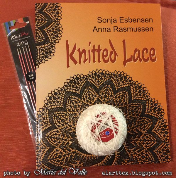 Kal Tricot d'Art Septembre 2016- Knitted Lace book by Sonja and Anna