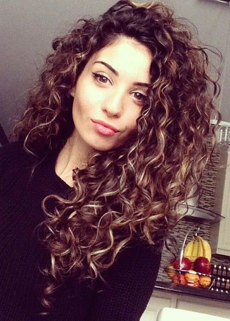 curly hair with coloured streaks - Google Search